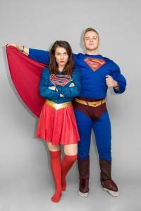 Super moteris ir supermenas